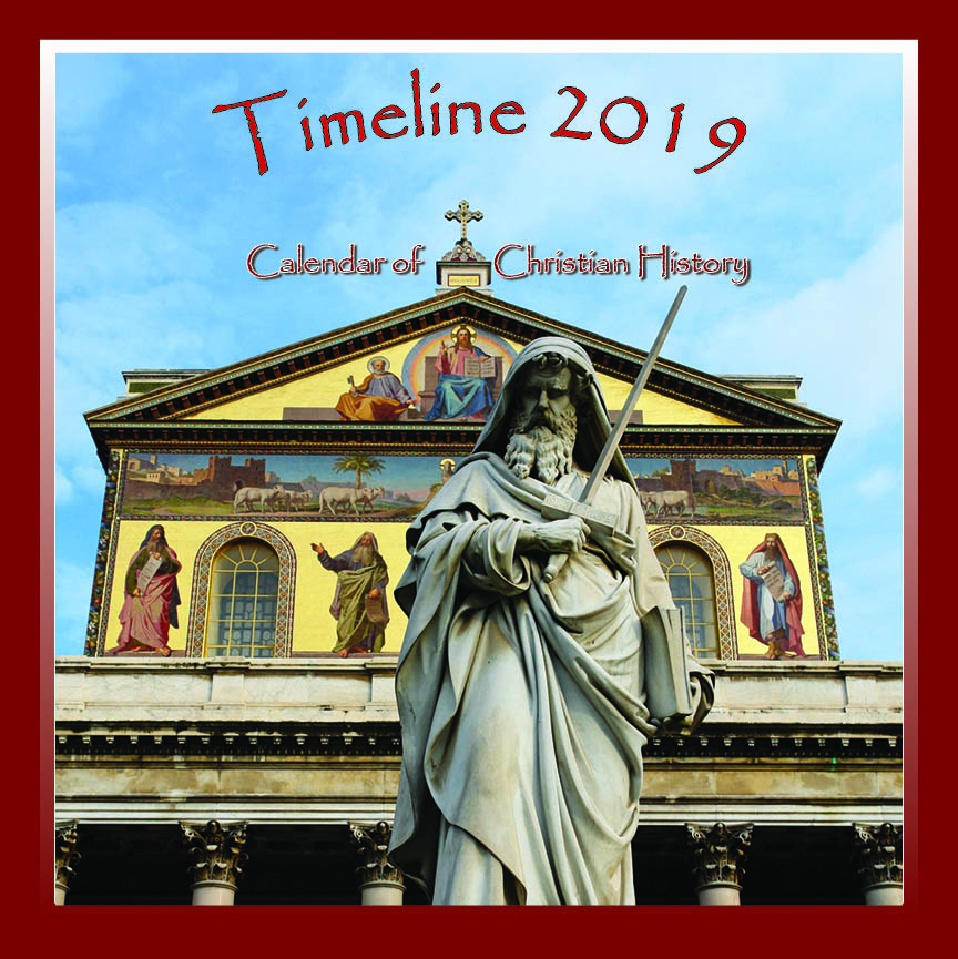 2019 Timeline Calendar of Church History